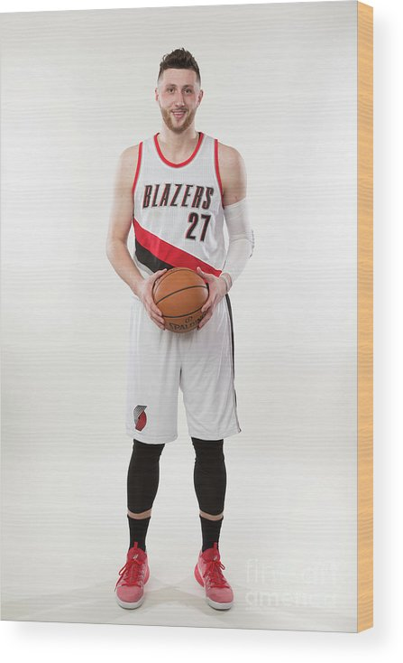Jusuf Nurkić Wood Print featuring the photograph Jusuf Nurkic Photo Shoot by Sam Forencich