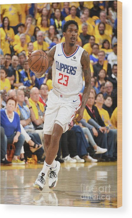 Playoffs Wood Print featuring the photograph La Clippers V Golden State Warriors - by Andrew D. Bernstein