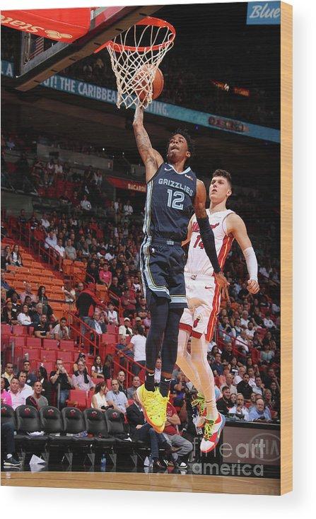 Nba Pro Basketball Wood Print featuring the photograph Memphis Grizzlies V Miami Heat by Issac Baldizon