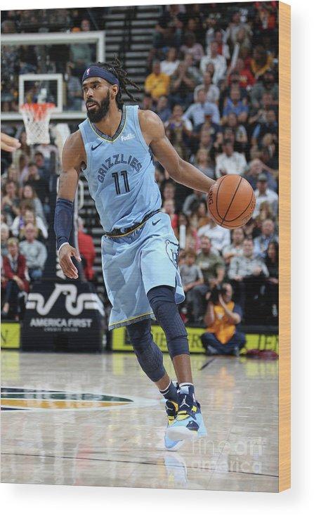 Nba Pro Basketball Wood Print featuring the photograph Memphis Grizzlies V Utah Jazz by Melissa Majchrzak