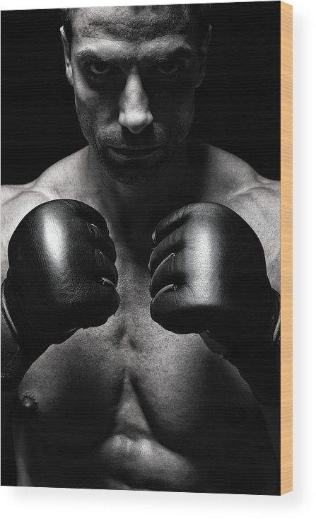 Toughness Wood Print featuring the photograph Mma Fighter by Vuk8691