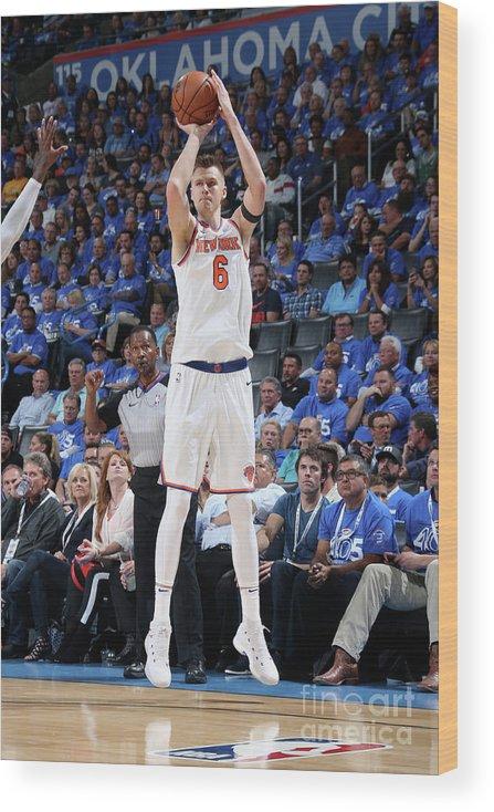 Nba Pro Basketball Wood Print featuring the photograph New York Knicks V Oklahoma City Thunder by Layne Murdoch