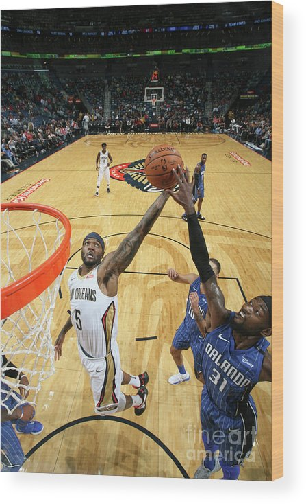 Smoothie King Center Wood Print featuring the photograph Orlando Magic V New Orleans Pelicans by Layne Murdoch