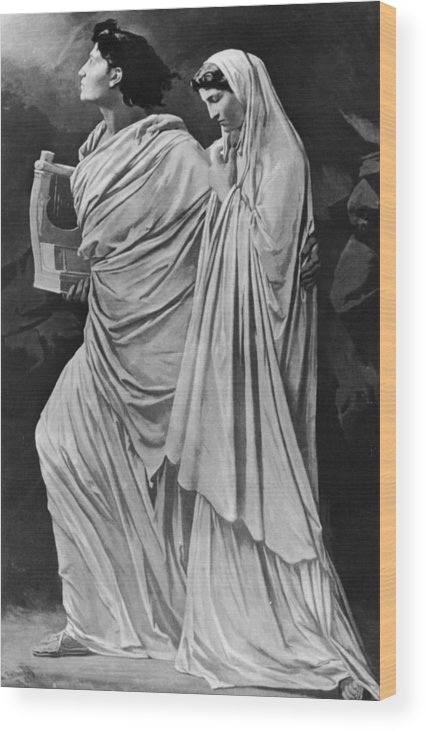 Greek Culture Wood Print featuring the photograph Orpheus And Eurydice by Hulton Archive