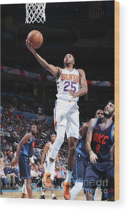 Nba Pro Basketball Wood Print featuring the photograph Phoenix Suns V Oklahoma City Thunder by Zach Beeker