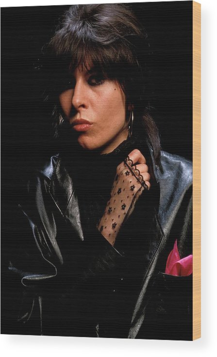 Music Wood Print featuring the photograph Photo Of Chrissie Hynde And Pretenders by Fin Costello