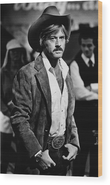 Sydney Pollack Wood Print featuring the photograph Robert Redford Stars In The by George Rose