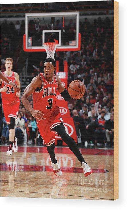 Nba Pro Basketball Wood Print featuring the photograph Sacramento Kings V Chicago Bulls by Jeff Haynes