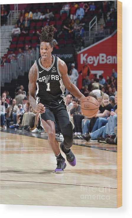 Nba Pro Basketball Wood Print featuring the photograph San Antonio Spurs V Cleveland Cavaliers by David Liam Kyle