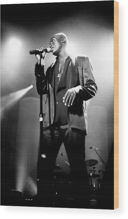 Music Wood Print featuring the photograph Seal Hollywood Bowl 1995 by Martyn Goodacre