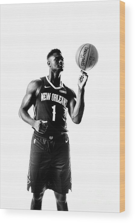 Nba Pro Basketball Wood Print featuring the photograph Zion Williamson by Sean Berry