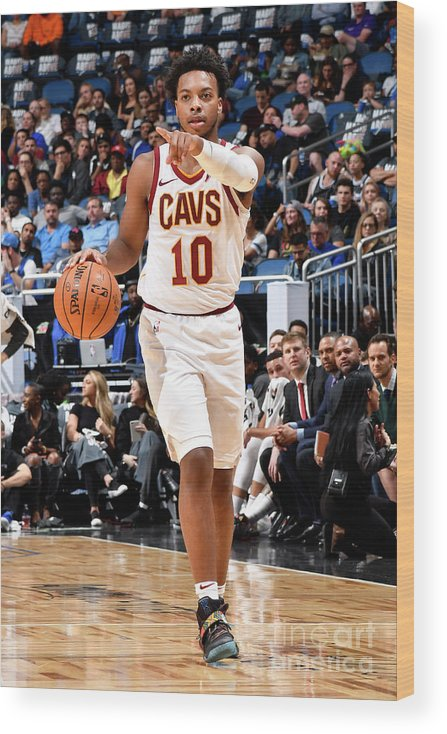 Nba Pro Basketball Wood Print featuring the photograph Cleveland Cavaliers V Orlando Magic by Fernando Medina