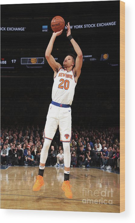 Nba Pro Basketball Wood Print featuring the photograph Indiana Pacers V New York Knicks by Nathaniel S. Butler