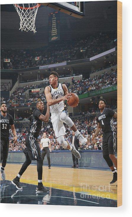 Nba Pro Basketball Wood Print featuring the photograph Minnesota Timberwolves V Memphis by Joe Murphy