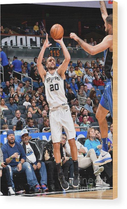 Nba Pro Basketball Wood Print featuring the photograph San Antonio Spurs V Orlando Magic by Fernando Medina