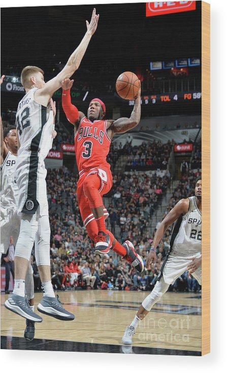 Nba Pro Basketball Wood Print featuring the photograph Chicago Bulls V San Antonio Spurs by Mark Sobhani