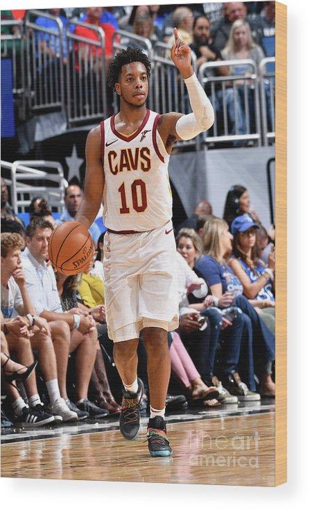 Nba Pro Basketball Wood Print featuring the photograph Cleveland Cavaliers V Orlando Magic by Fernando Medina