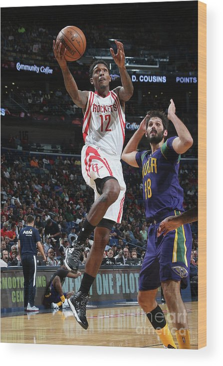 Smoothie King Center Wood Print featuring the photograph Houston Rockets V New Orleans Pelicans by Layne Murdoch