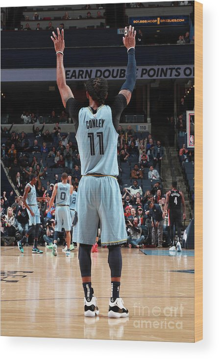 Nba Pro Basketball Wood Print featuring the photograph Portland Trail Blazers V Memphis by Joe Murphy