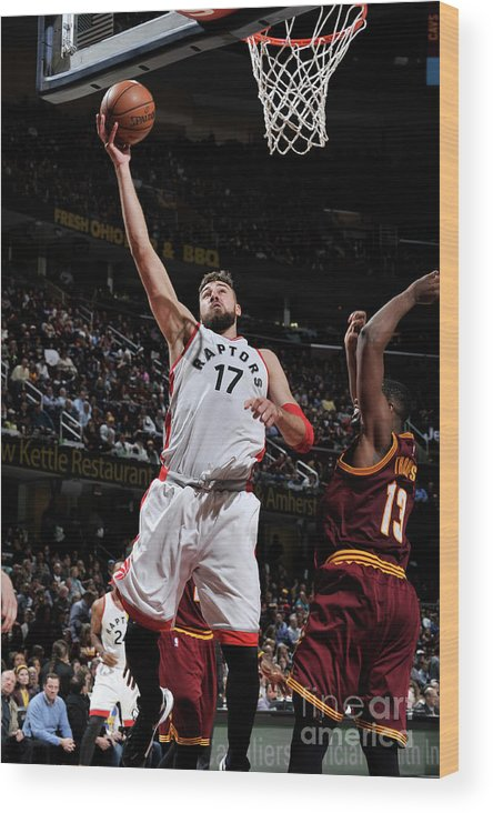 Nba Pro Basketball Wood Print featuring the photograph Toronto Raptors V Cleveland Cavaliers by David Liam Kyle