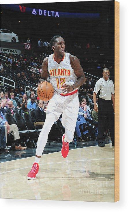 Atlanta Wood Print featuring the photograph Milwaukee Bucks V Atlanta Hawks by Scott Cunningham