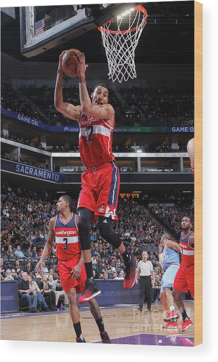 Nba Pro Basketball Wood Print featuring the photograph Washington Wizards V Sacramento Kings by Rocky Widner