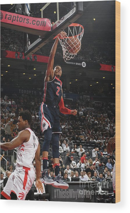 Playoffs Wood Print featuring the photograph Washington Wizards V Toronto Raptors - by Ron Turenne