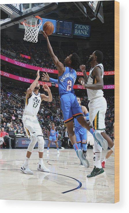Nba Pro Basketball Wood Print featuring the photograph Oklahoma City Thunder V Utah Jazz by Melissa Majchrzak