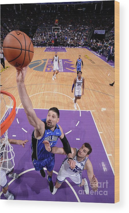 Nba Pro Basketball Wood Print featuring the photograph Orlando Magic V Sacramento Kings by Rocky Widner