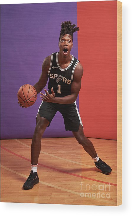 Nba Pro Basketball Wood Print featuring the photograph 2018 Nba Rookie Photo Shoot by Jennifer Pottheiser