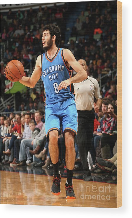 Smoothie King Center Wood Print featuring the photograph Oklahoma City Thunder V New Orleans by Layne Murdoch