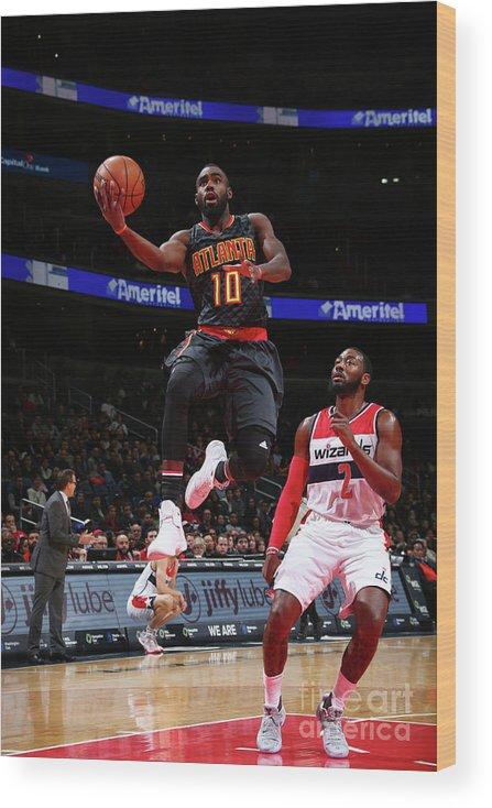 Tim Hardaway Jr. Wood Print featuring the photograph Atlanta Hawks V Washington Wizards by Ned Dishman