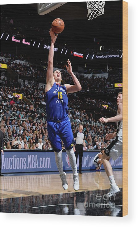 Playoffs Wood Print featuring the photograph Denver Nuggets V San Antonio Spurs - by Mark Sobhani