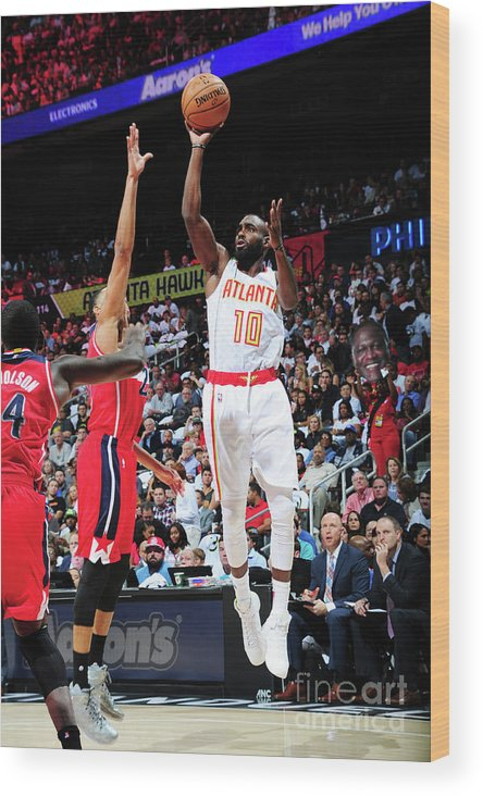 Atlanta Wood Print featuring the photograph Washington Wizards V Atlanta Hawks by Scott Cunningham
