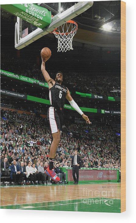 Nba Pro Basketball Wood Print featuring the photograph Washington Wizards V Boston Celtics by Brian Babineau