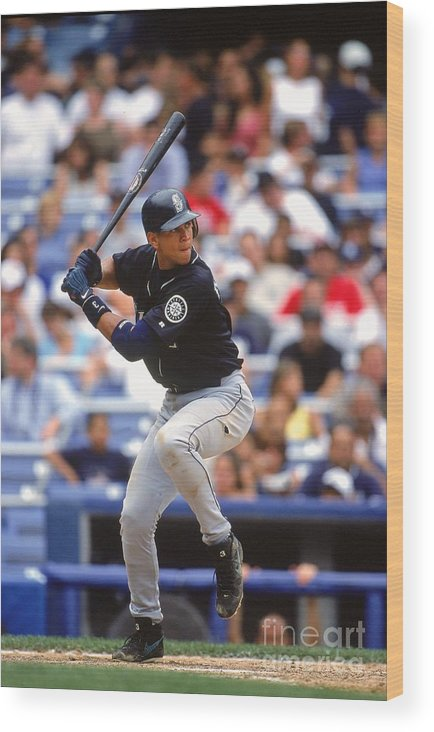 People Wood Print featuring the photograph Alex Rodriguez 3 by Jamie Squire