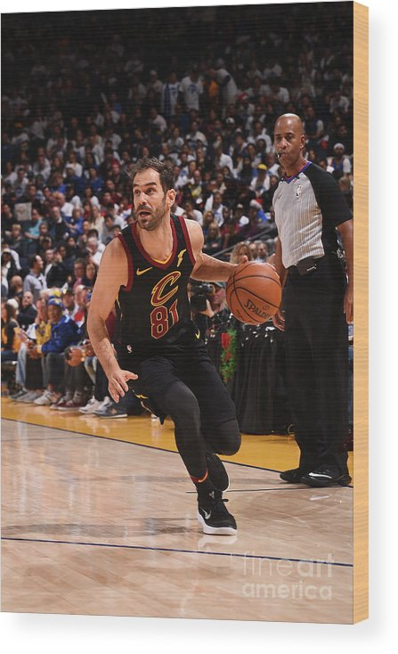 Nba Pro Basketball Wood Print featuring the photograph Cleveland Cavaliers V Golden State by Noah Graham