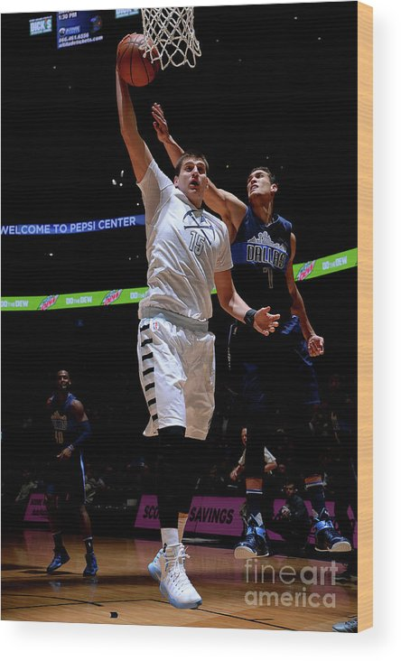 Nba Pro Basketball Wood Print featuring the photograph Dallas Mavericks V Denver Nuggets by Bart Young