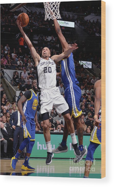 Playoffs Wood Print featuring the photograph Golden State Warriors V San Antonio by Mark Sobhani