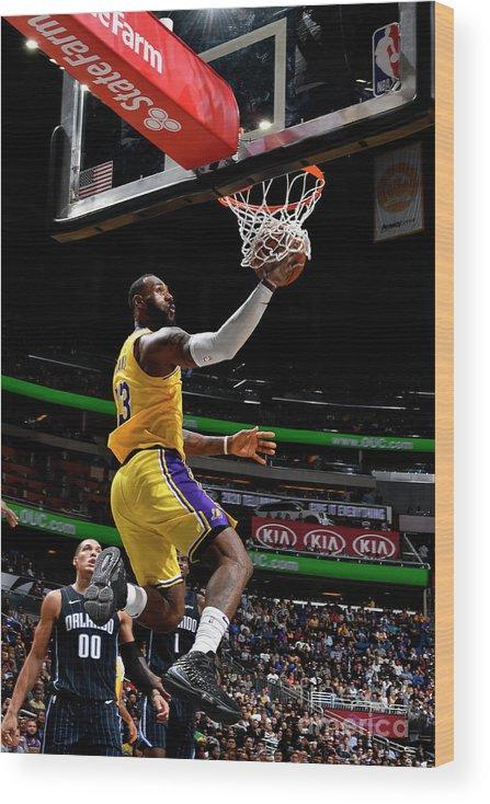 Nba Pro Basketball Wood Print featuring the photograph Lebron James by Fernando Medina
