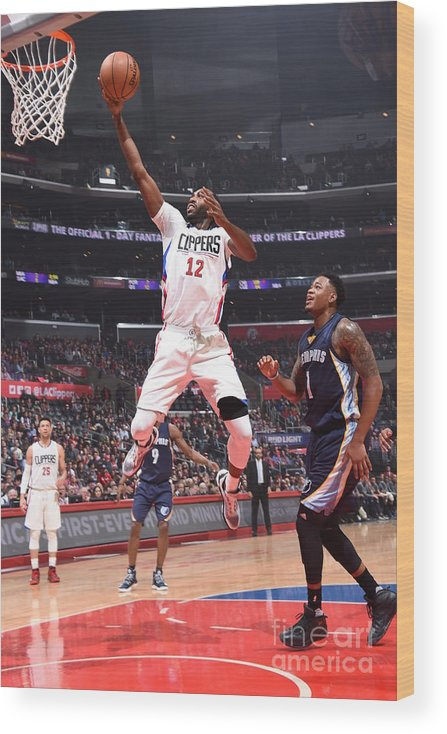 Nba Pro Basketball Wood Print featuring the photograph Memphis Grizzlies V Los Angeles Clippers by Andrew D. Bernstein