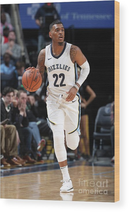 Nba Pro Basketball Wood Print featuring the photograph Milwaukee Bucks V Memphis Grizzlies by Joe Murphy