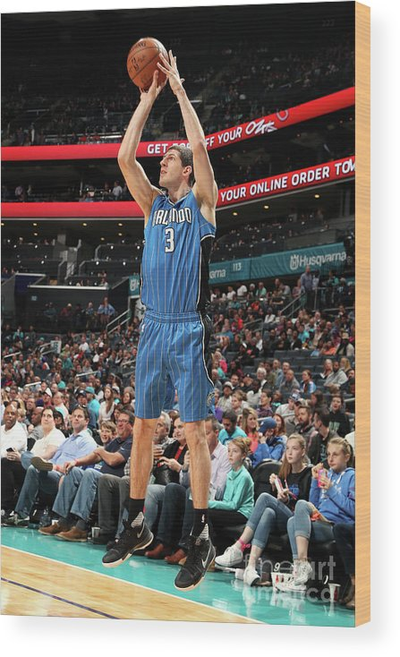 Nba Pro Basketball Wood Print featuring the photograph Orlando Magic V Charlotte Hornets by Kent Smith