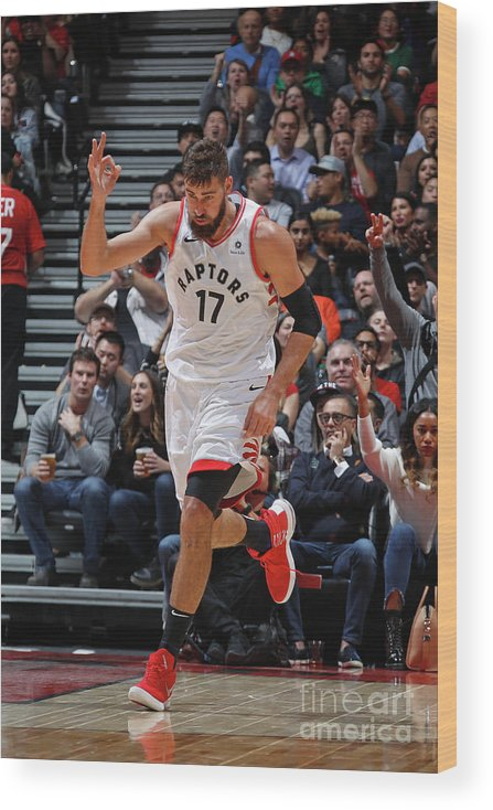 Nba Pro Basketball Wood Print featuring the photograph Philadelphia 76ers V Toronto Raptors by Mark Blinch