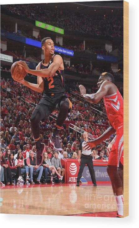 Nba Pro Basketball Wood Print featuring the photograph Phoenix Suns V Houston Rockets by Bill Baptist