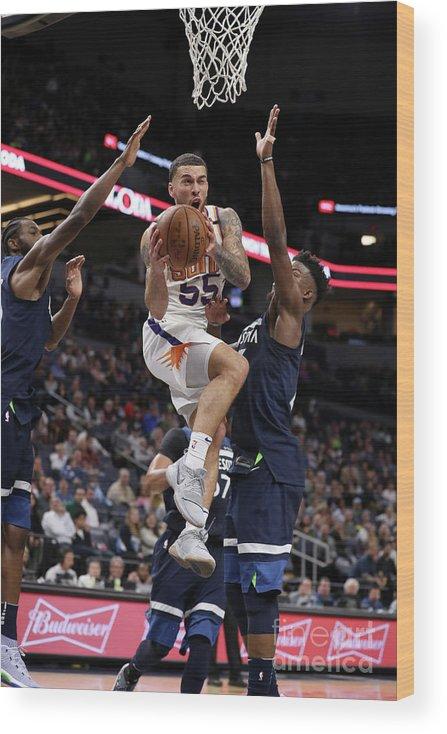 Nba Pro Basketball Wood Print featuring the photograph Phoenix Suns V Minnesota Timberwolves by Jordan Johnson