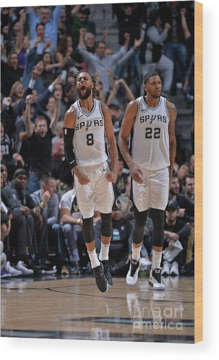 Nba Pro Basketball Wood Print featuring the photograph Sacramento Kings V San Antonio Spurs by Mark Sobhani
