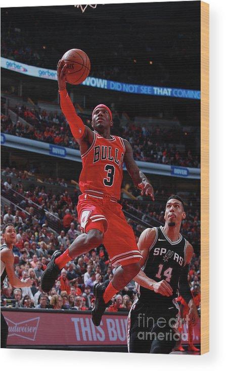 Nba Pro Basketball Wood Print featuring the photograph San Antonio Spurs V Chicago Bulls by Jeff Haynes