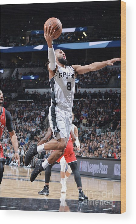 Nba Pro Basketball Wood Print featuring the photograph Toronto Raptors V San Antonio Spurs by Mark Sobhani