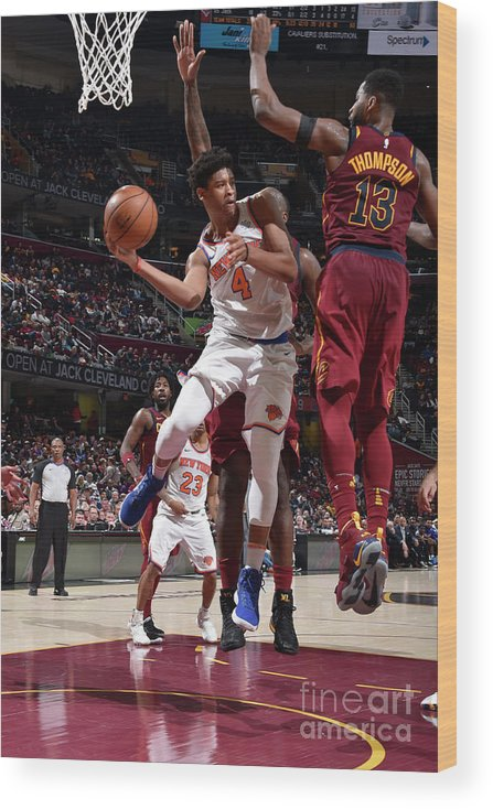 Nba Pro Basketball Wood Print featuring the photograph New York Knicks V Cleveland Cavaliers by David Liam Kyle